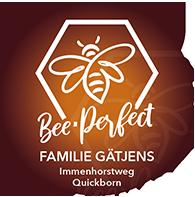 Bee Perfect Imkerei Logo mit Anschrift