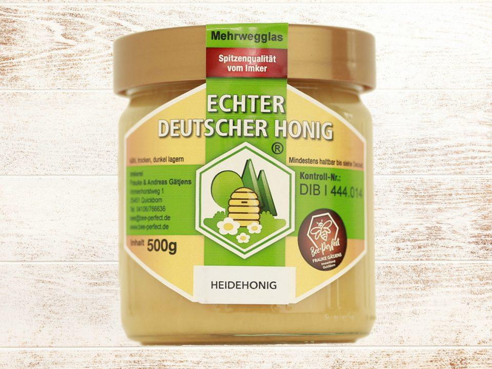 Bee Perfect Honigsorte Heidehonig, Vorderansicht