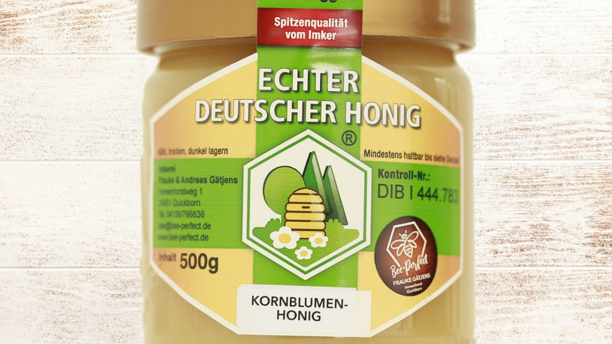 Bee Perfect Honigsorte Kornblumenhonig, Vorderansicht