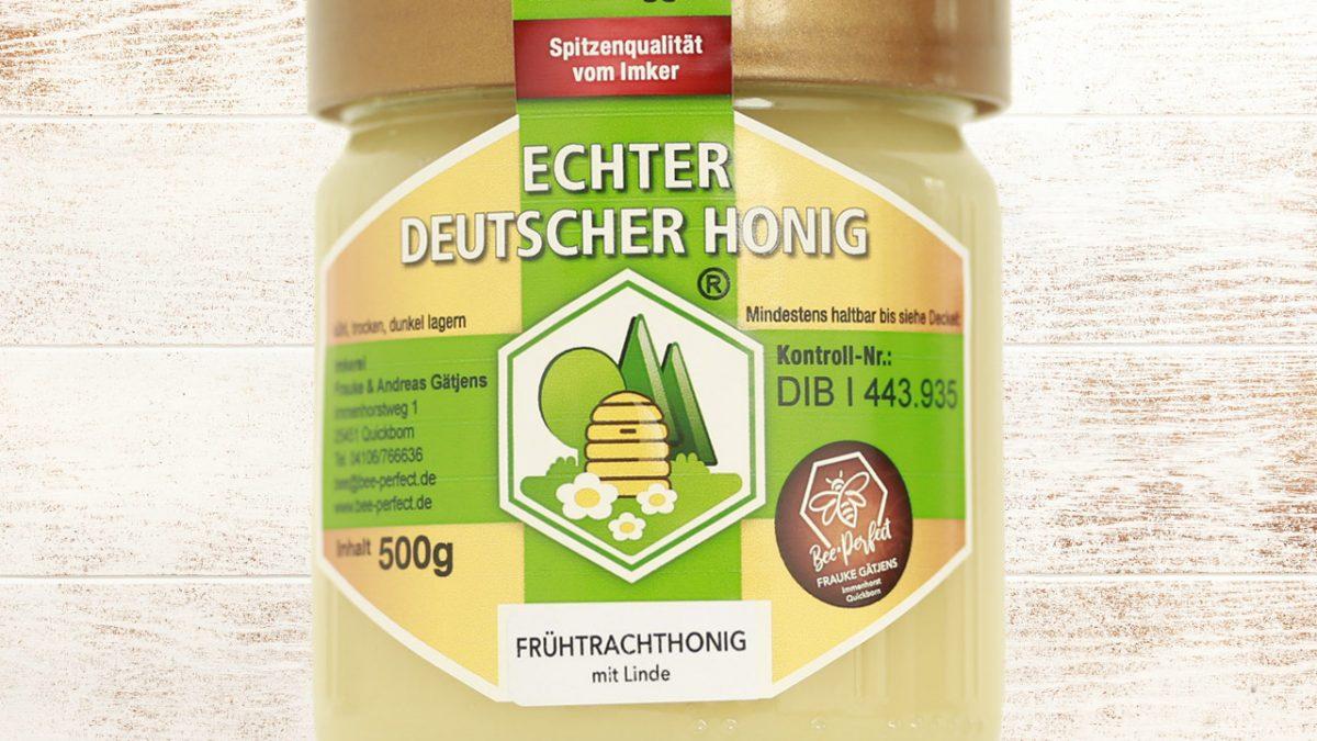 Bee Perfect Honigsorte Frühtrachthonig mit Linde, Vorderansicht