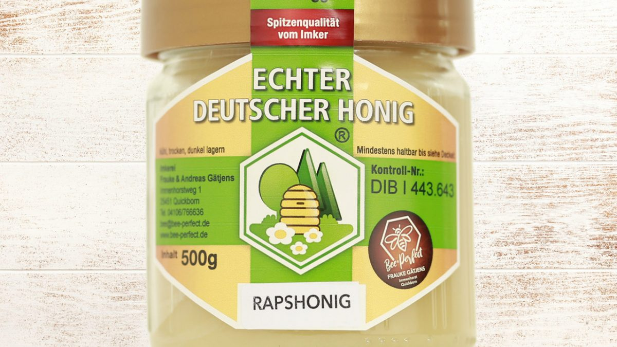 Bee Perfect Honigsorte Rapshonig, Vorderansicht