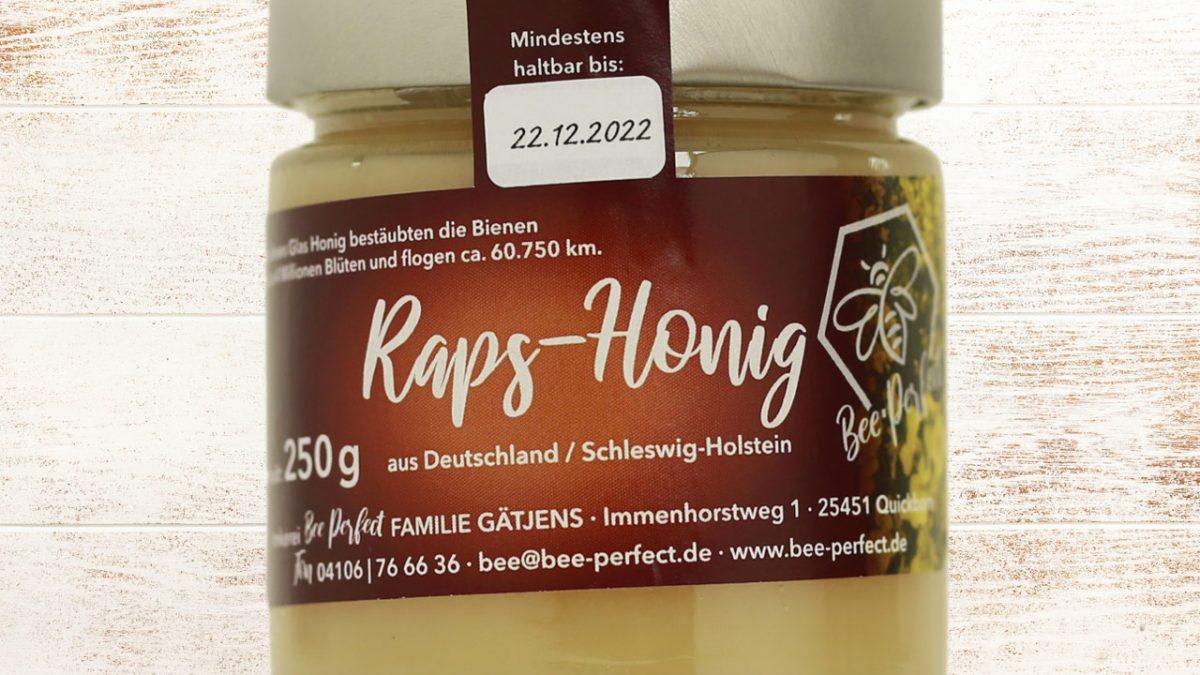 Bee Perfect Honigsorte kleiner Rapshonig, Vorderansicht