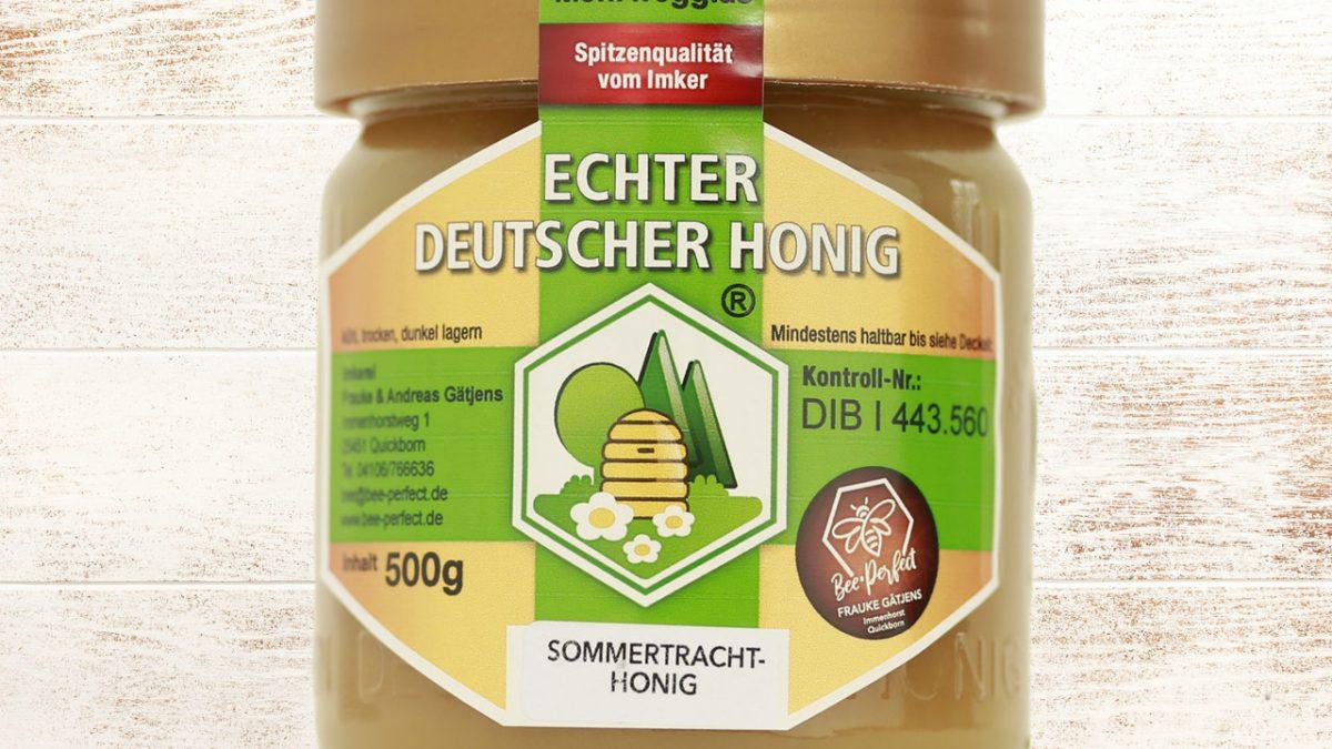 Bee Perfect Honigsorte Sommertrachthonig, Vorderansicht