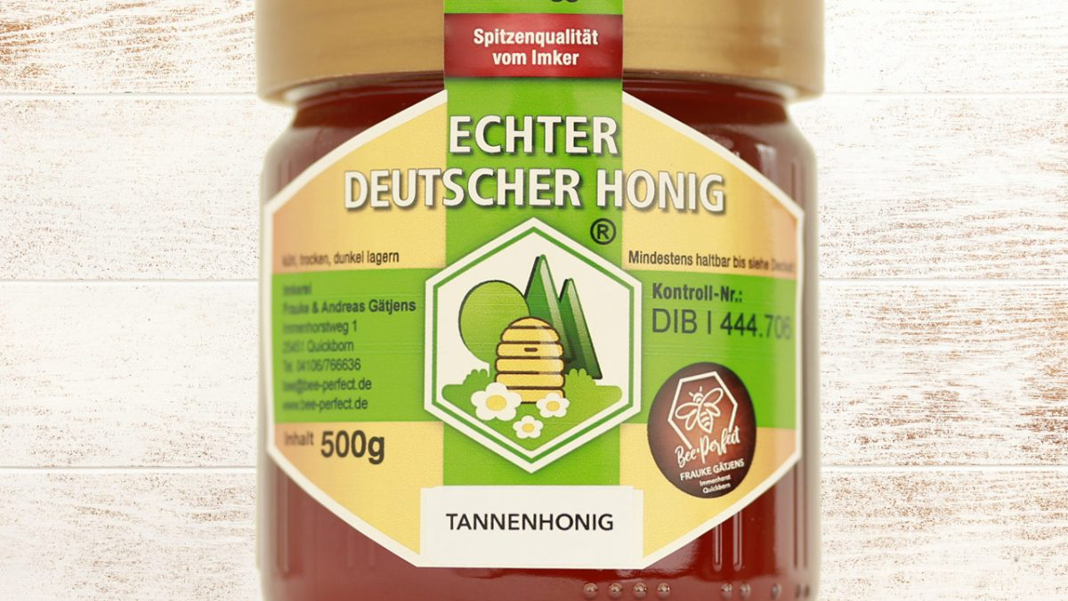 Bee Perfect Honigsorte Tannenhonig, Vorderansicht