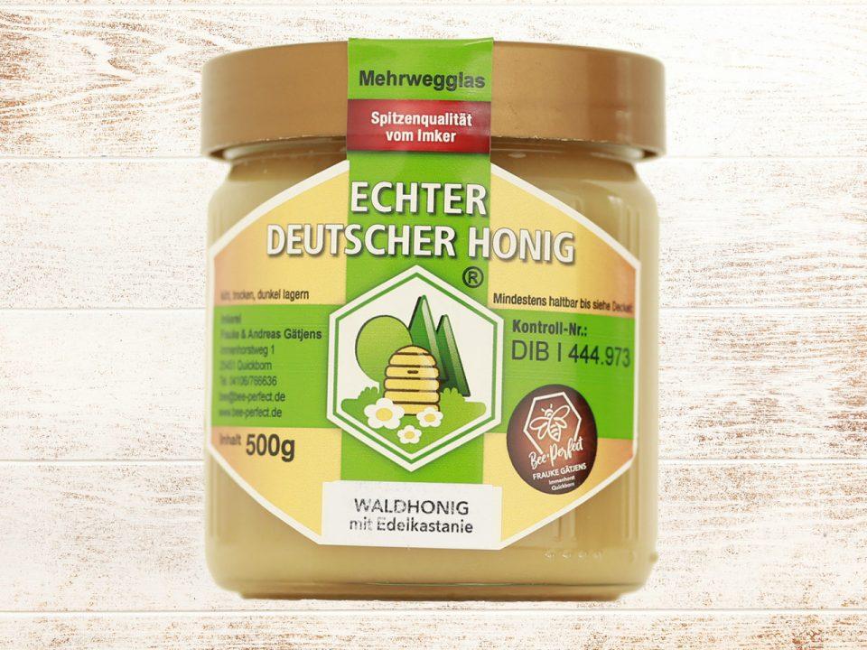 Bee Perfect Honigsorte Waldhonig, Vorderansicht