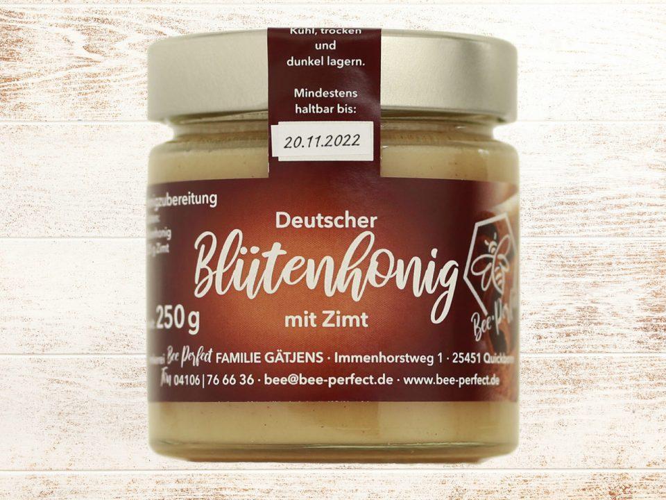 Bee Perfect Honigzubereitung Zimhonig, Vorderansicht